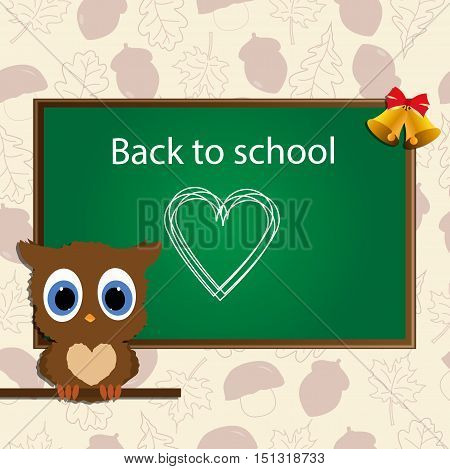 background for school: back to school.  vector illustration