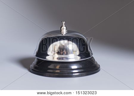 Service bell isolated on a gray background