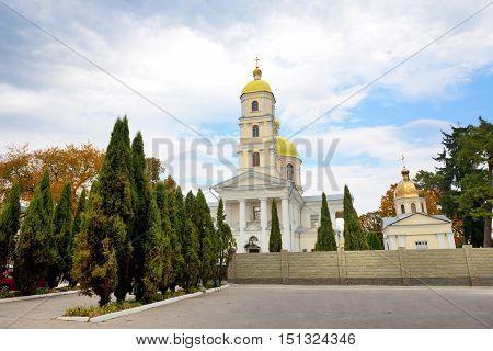 The view on church of Saint Maria Magdalena Bila Tserkva Ukraine