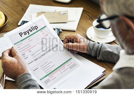 Payslip Purchase Order Form Concept