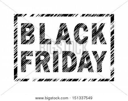 Grunge Banner With Diagonal Shading - Black Friday