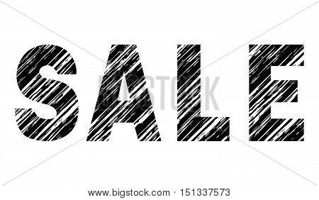Grunge decorative inscription SALE with diagonal shading