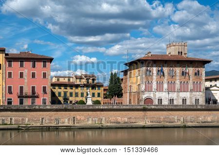 Medici Palace In Pisa, Italy