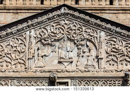 Palermo Cathedral's Portico Carving