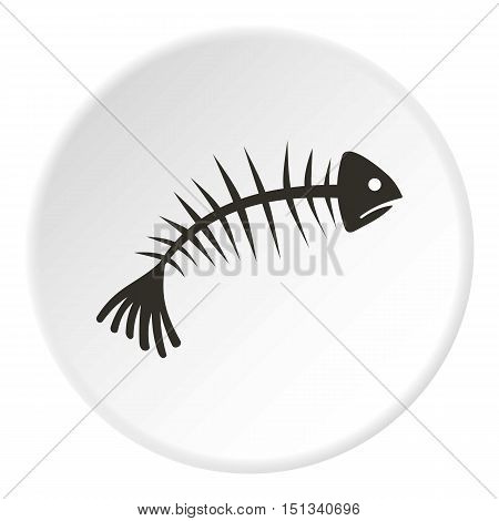 Fish bone icon. Flat illustration of fish bone vector icon for web design