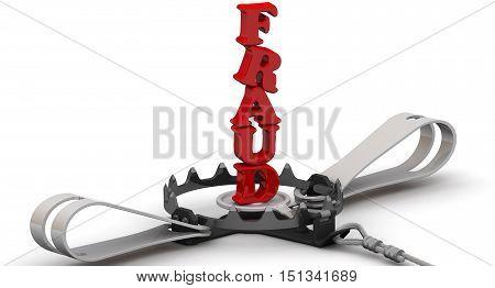 Dangerous fraud. Red word