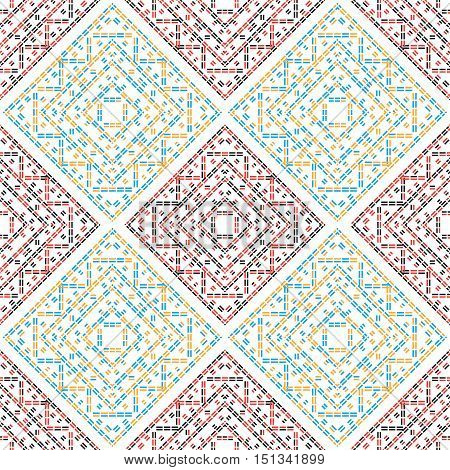 abstract dashed color lines seamless pattern vector background