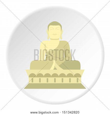 Sitting Buddha icon. Flat illustration of Buddha vector icon for web design