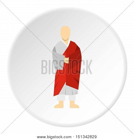 Korean monk icon. Flat illustration of monk vector icon for web design