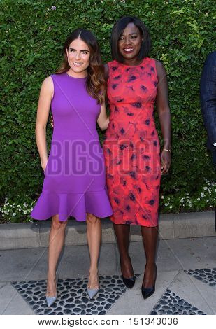 LOS ANGELES - SEP 25:  Karla Souza and Viola Davis arrives to the The Rape Foundation Annual Brunch on September 25, 2016 in Hollywood, CA