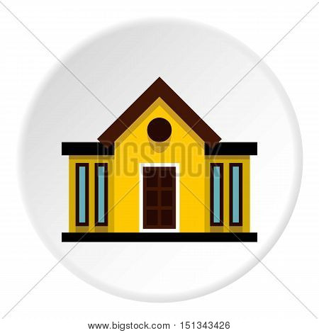 Mansion icon. Flat illustration of mansion vector icon for web