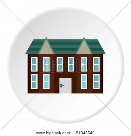 Large two storey house icon. Flat illustration of large two storey house vector icon for web
