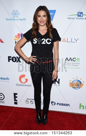 LOS ANGELES - SEP 09:  Karla Souza arrives to the Stand Up To Cancer 2016 on September 09, 2016 in Hollywood, CA