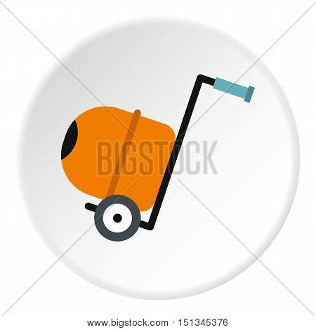 Concrete mixer icon. Flat illustration of concrete mixer vector icon for web