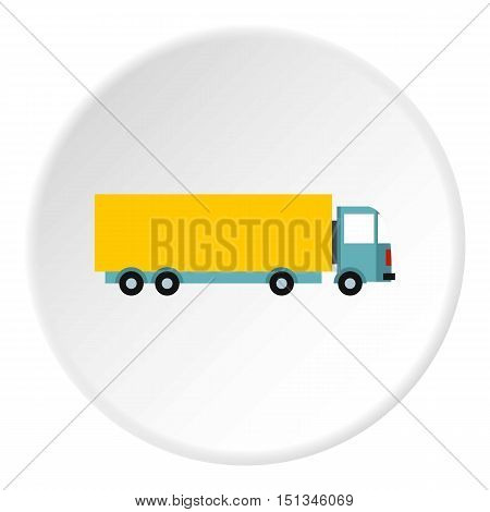 Truck icon. Flat illustration of truck vector icon for web