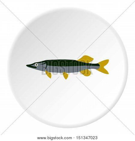 Pike icon. Flat illustration of pike vector icon for web