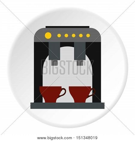 Coffee maker icon. Flat illustration of coffee maker vector icon for web