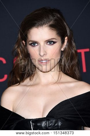 LOS ANGELES - OCT 10:  Anna Kendrick arrives to