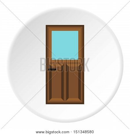 Front door icon. Flat illustration of front door vector icon for web