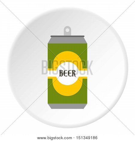 Aluminum beer icon. Flat illustration of aluminum beer vector icon for web