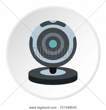 Webcam icon. Flat illustration of webcam vector icon for web poster