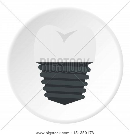 Screw tooth implant icon. Flat illustration of screw tooth implant vector icon for web