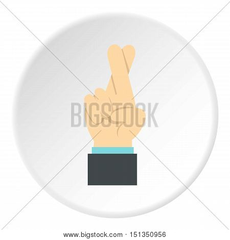 Fingers crossed icon. Flat illustration of fingers crossed vector icon for web