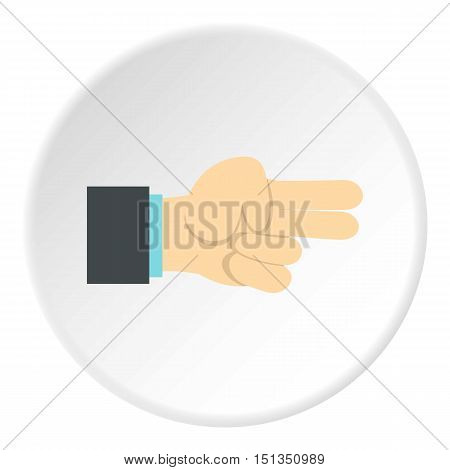 Gesture index and middle finger together icon. Flat illustration of gesture index and middle finger together vector icon for web