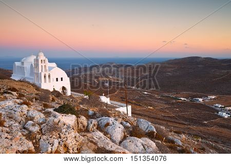 Monastery on a hill above Folegandros village.