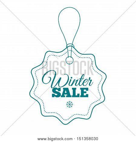 Winter sale label. Badge. Logotype of winter sale.