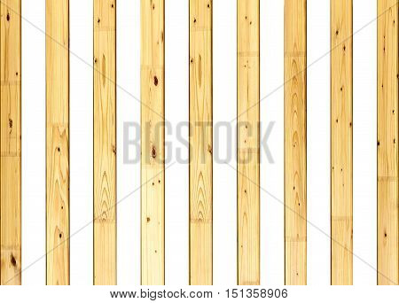 striped background from wooden slats placed on a white background
