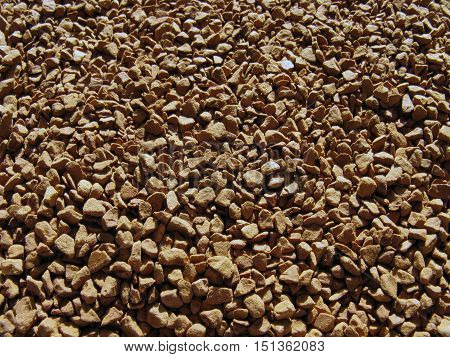 Instant coffee background. Soluble coffee background. Natural background.