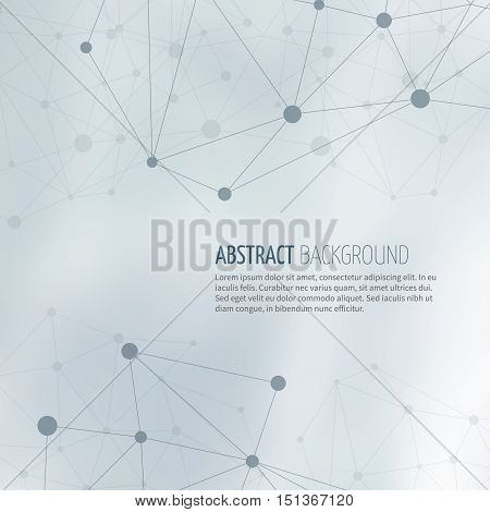 Society network structure abstract vector background. Structure connection global community illustration