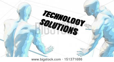 Technology Solutions Discussion and Business Meeting Concept Art 3D Render