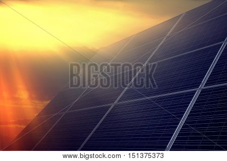 Solar panel against the sky, an alternative source of power, clean energy, solar energy