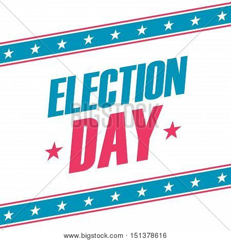USA Election Day banner. Design vector illustration.