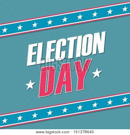 USA Election Day banner. Election poster. Vector illustration.