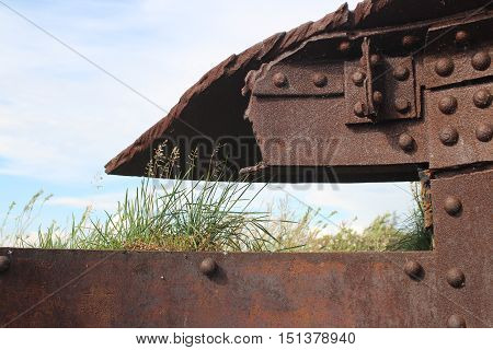 embrasure fort Totleben in the Baltic Sea