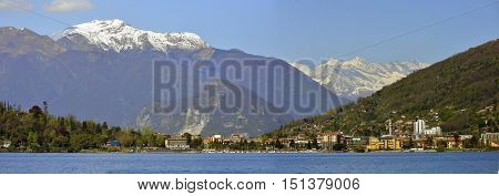 panorama of Lake Maggiore in the spring