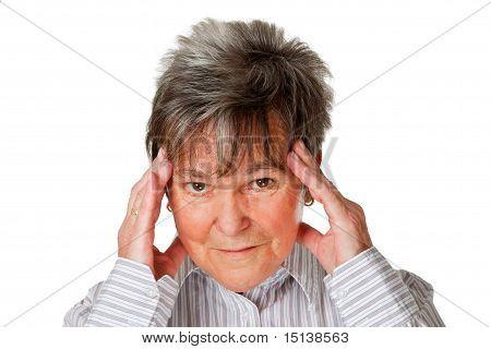 Senior Woman With Headache