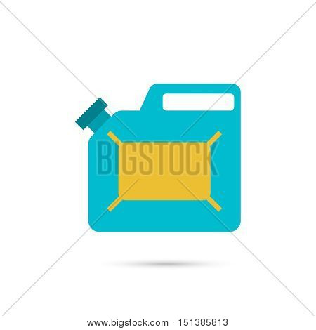 Canister under the petrol, gasoline and engine oil. Modern thin line icon. outline symbol. Vector. Can for combustible materials. flat style