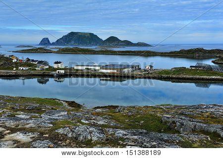 landscape of Mageroya Island near Gjesvaer Nordkapp Norway