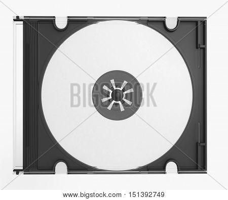 3D CD cover on white background render