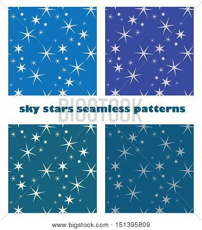 abstract sky star seamless pattern backgrounds vector design