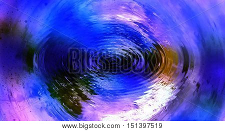 circles on water surface, graphic design, computer graphic