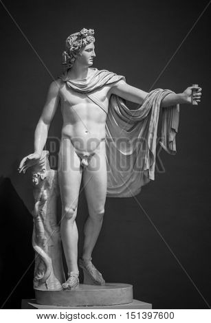Apollo Belvedere statue by Greek sculptor Leochares.