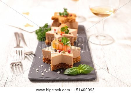 christmas entree with gingerbread and foie gras poster