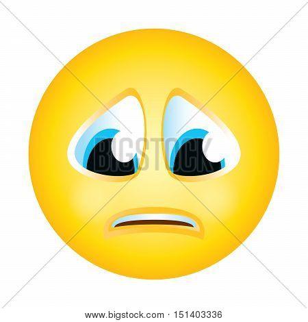 emoji emoticon sad expression face character smiley avatar cartoon