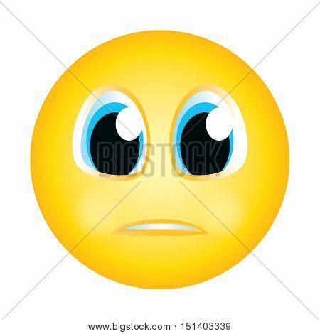 emoji emoticon no reaction expression face character smiley avatar cartoon