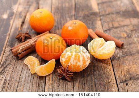 clementine with cinnamon and anise